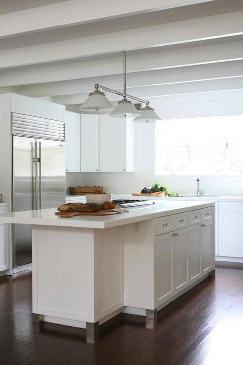 All White Kitchen Design Transitional Kitchen Foley