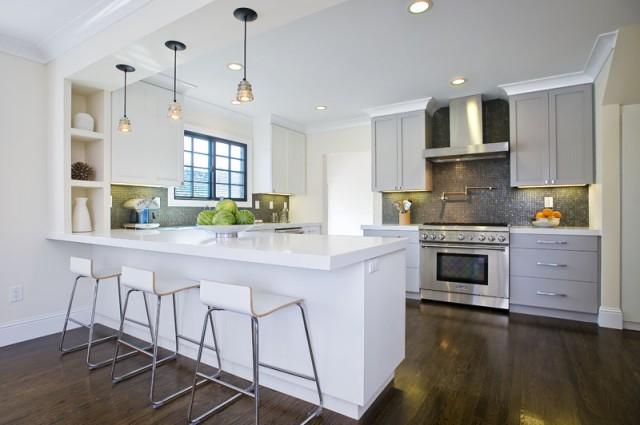 White Kitchen Jarrah Floors