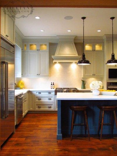 Blue Kitchen Island - Vintage - kitchen - Jillian Harris