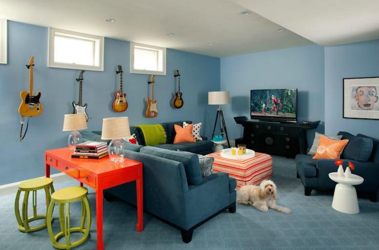 Family Rec Room Decorating Ideas