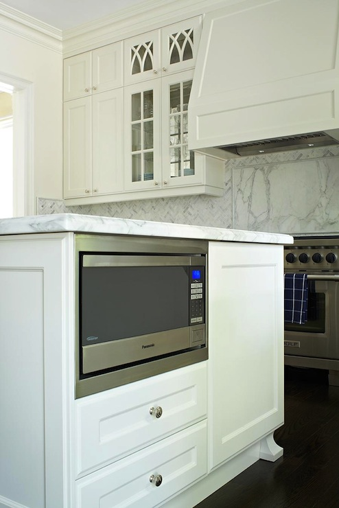 White Kitchen Nook Storage
