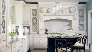 Off White Kitchen Cabinets Traditional Kitchen