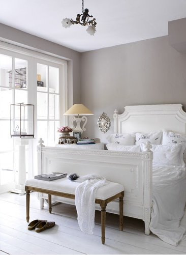 Gray And White Bedroom Transitional Bedroom Esther