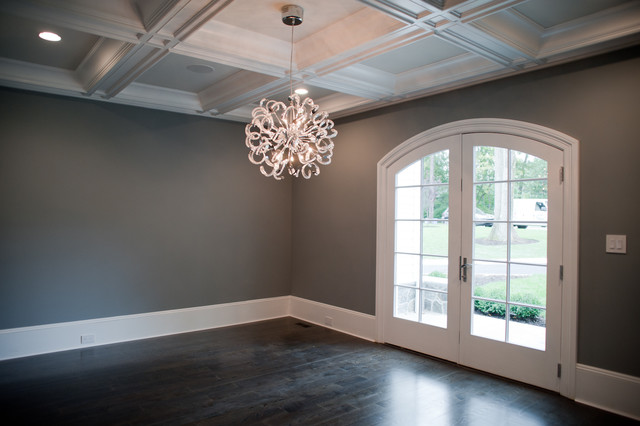 Grey Walls Dark Wood Floors