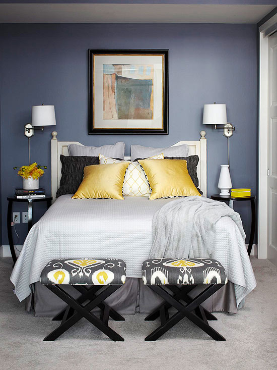 Teal Gray Walls White Bedding