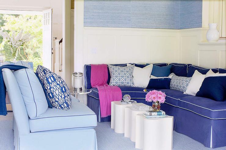 Light Blue Velvet Accent Chair