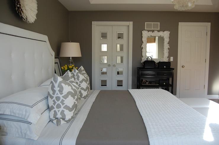 Gray Bedroom Transitional Bedroom Benjamin Moore