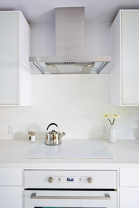 Hood White Kitchen Extractor