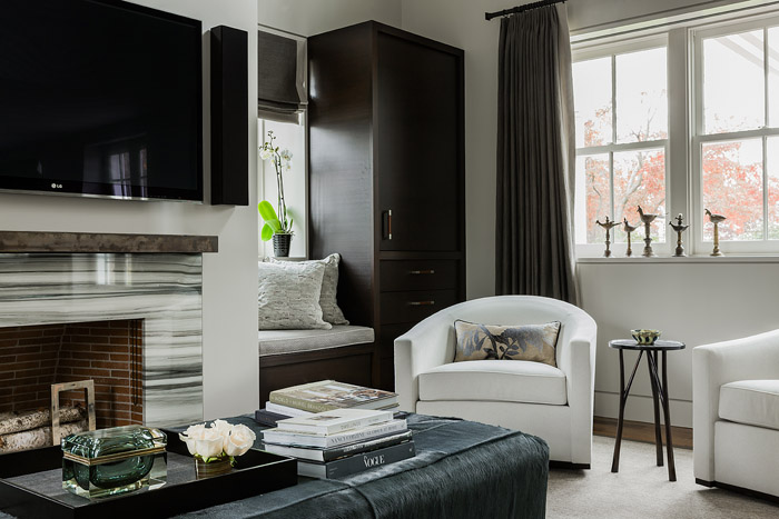 Gray Tufted Accent Chair