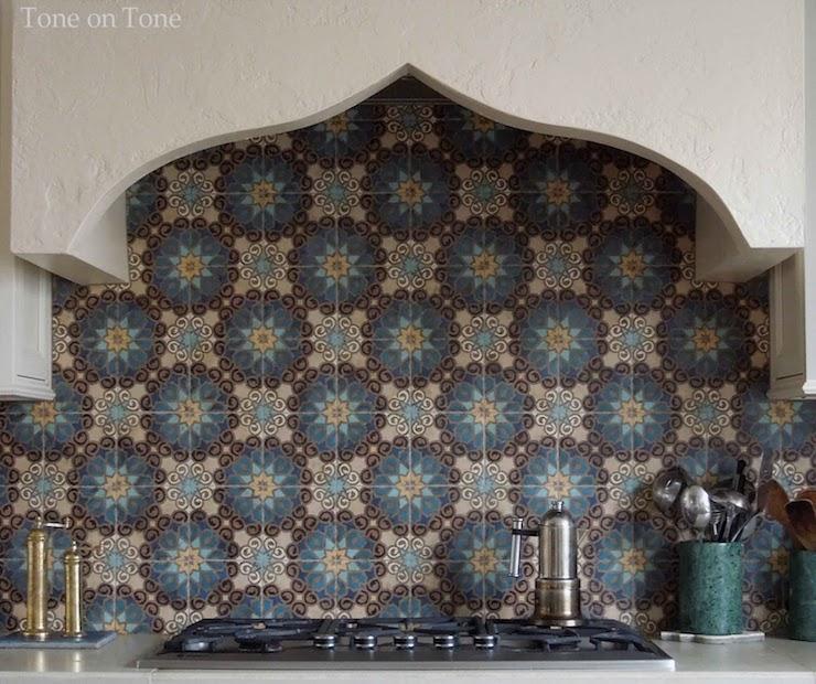 Black Moroccan Tile Backsplash