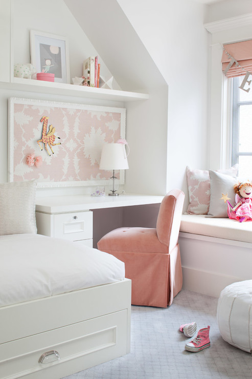 Heather Gray And Pink Nursery With Devyn Tufted