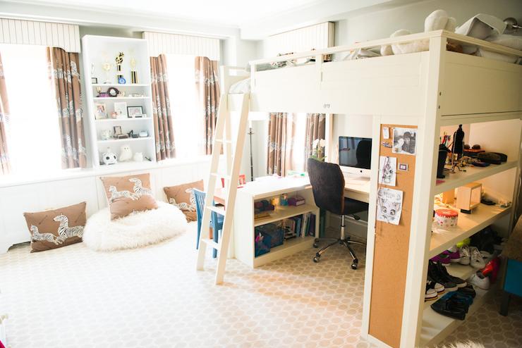 Desk Under Bed Transitional Girl S Room The Coveteur