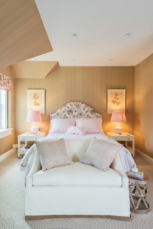 Pink And Beige Bedrooms Transitional Bedroom Lindsey