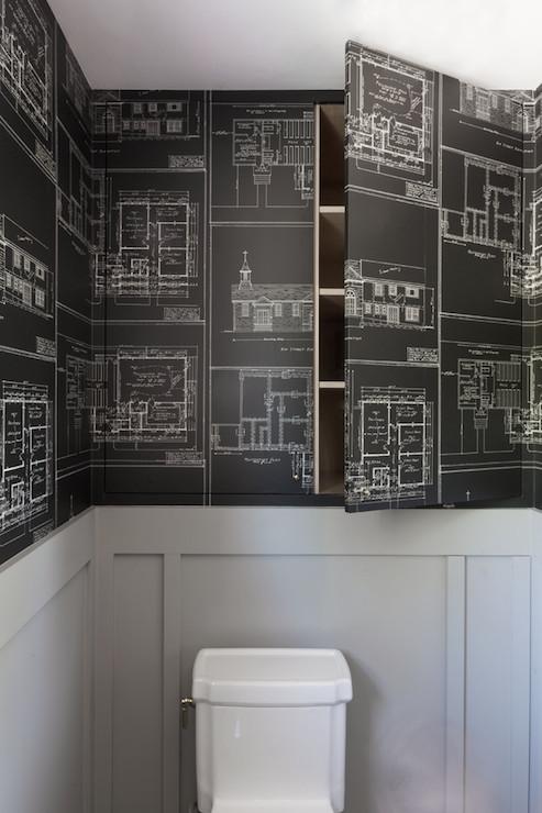 Hidden Cabinets Eclectic Bathroom Hsh Interiors