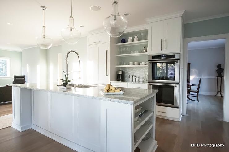 Bianco Romano Granite Countertops Contemporary Kitchen