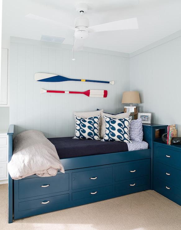 Burlap Kids Headboard Cottage Boy S Room