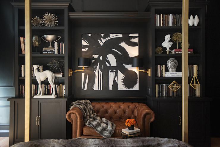 Black Built In Bookcase Design Ideas
