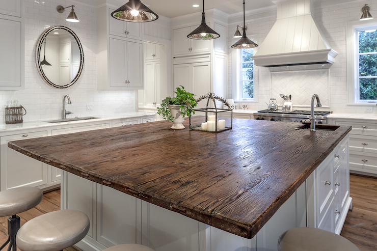 Oak Countertops Cottage Kitchen Frasier Homes