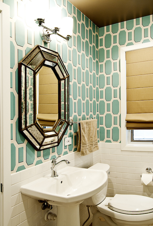 Teal And Brown Bathroom Accessories