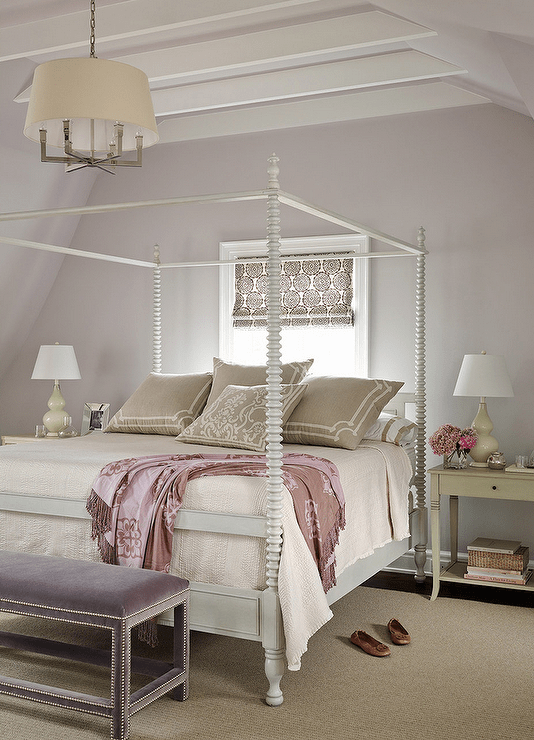 Gray And Purple Bedrooms Transitional Bedroom Andrew
