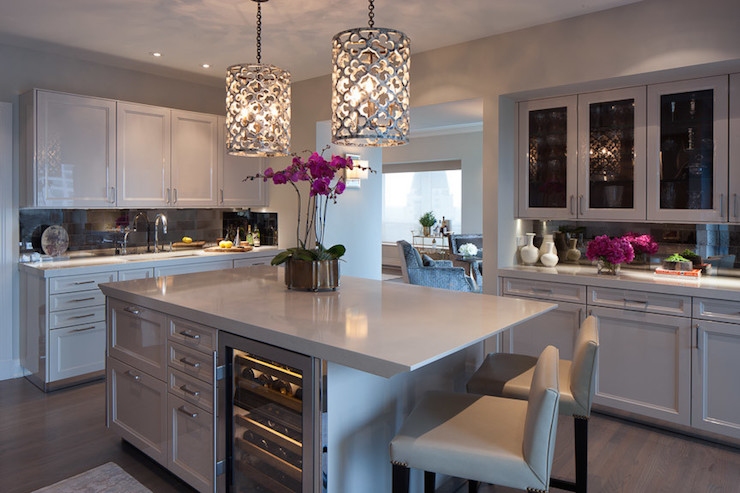 Blue Pendant Lights Kitchen Island