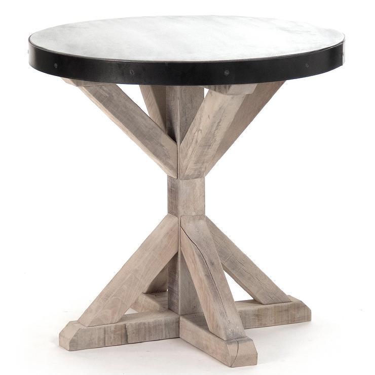 Wood Metal Dark And Table Coffee