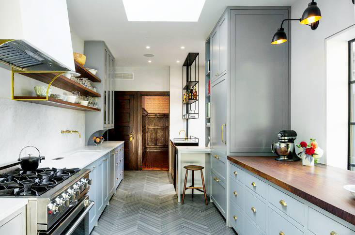 Kitchen With Black Walnut Countertops Contemporary