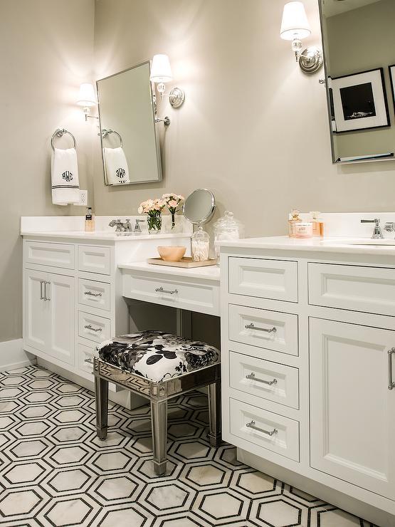 Mirrored Vanity Stool