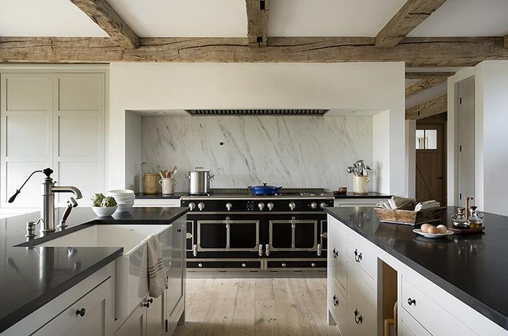 White Kitchen Zinc Hood