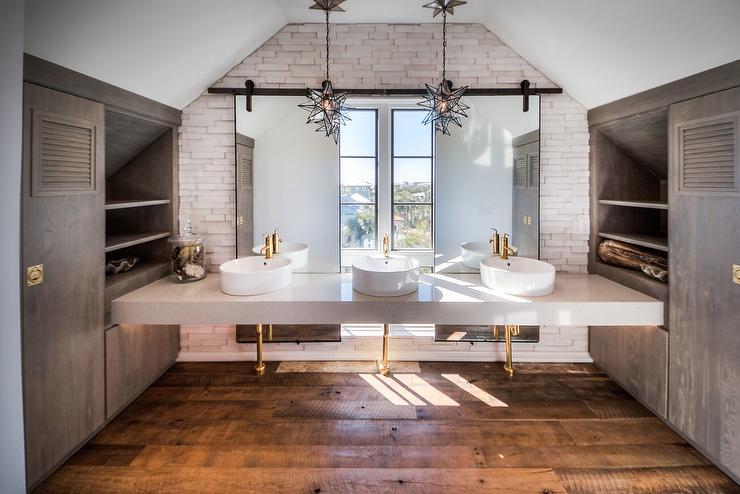 Bathroom Gray And Yellow Decor