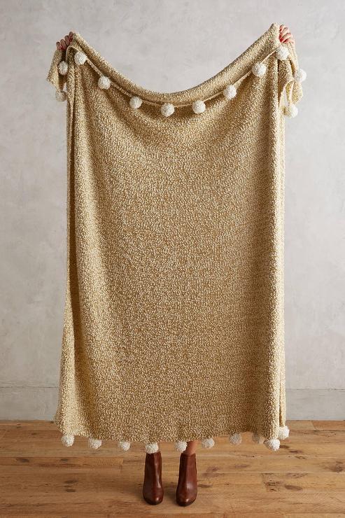 Nate Berkus 195 194 162 195 162 195 194 162 Woven Knit Gold Throw At Hsn Com