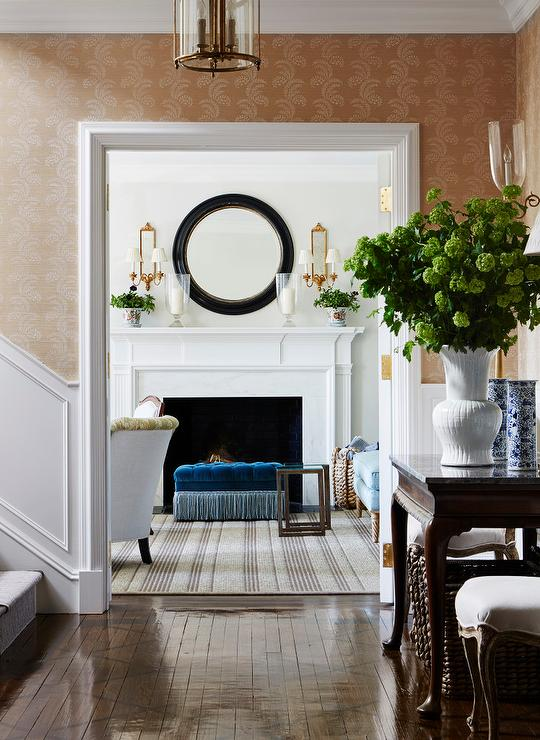Blue And Brown Accent Chair