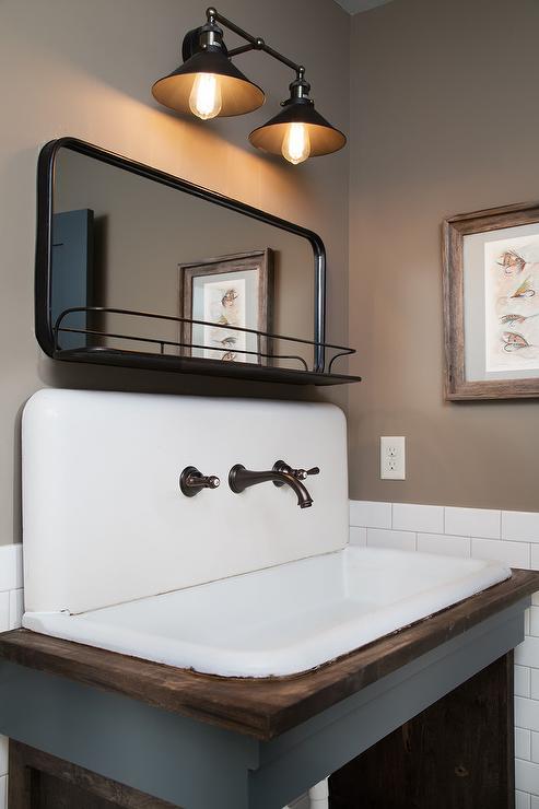 Bathroom With Taupe Walls Contemporary Bathroom
