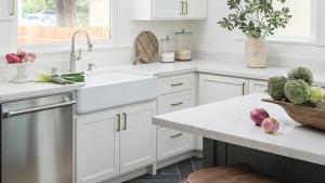 Black Slate Herringbone Kitchen Floor Tiles Design Ideas