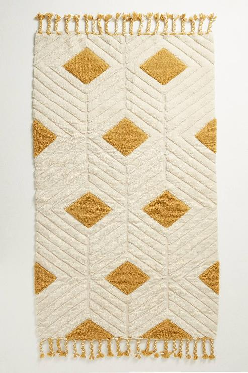 Cream And Gold Area Rugs