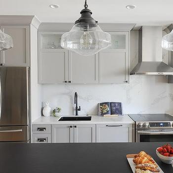 Black Leathered Granite Countertops Design Ideas