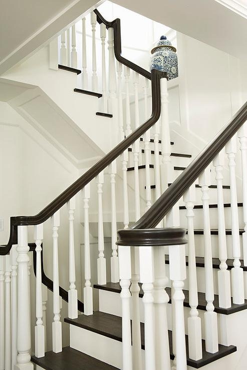 White And Brown Staircase Design Ideas   White Handrails For Stairs Interior   Indoor   House   Exterior   Spiral   White Metal