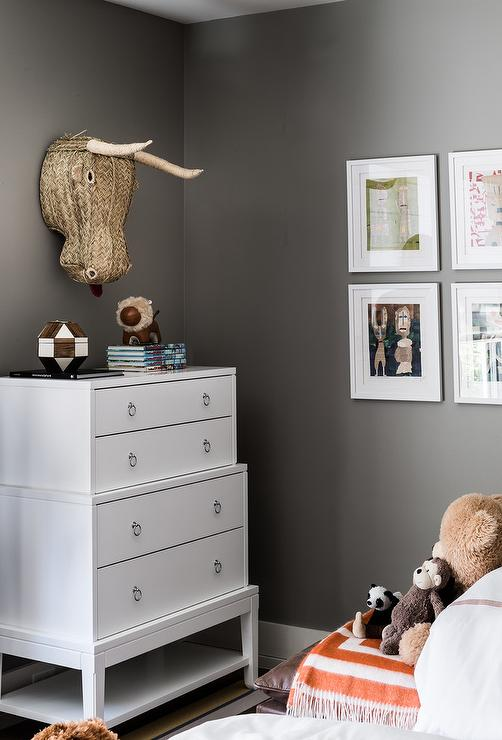 Dark Brown Tall Dresser