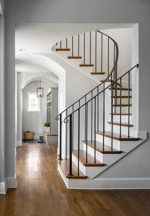 Wrought Iron Staircase Spindles Design Ideas | Wood And Iron Stair Railing | Banister | Reclaimed Wood | Wrought Iron Staircase Used | Ss Railing Design | Metal