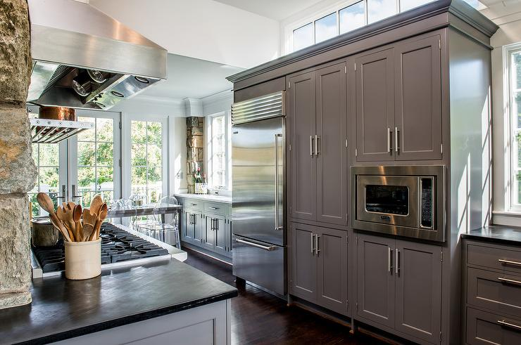 Charcoal Gray Cabinets Design Ideas