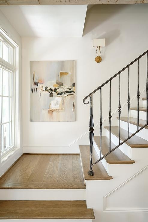 White Staircase Spindles Design Ideas   Spindle Stairs Railings   Painting Banisters Colour Schemes