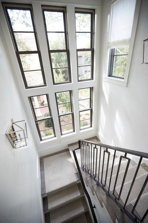 Stacked Staircase Windows Design Ideas | Stairs Window Glass Design | Classic | Foreign Window | Simple | Stairwell | Grill