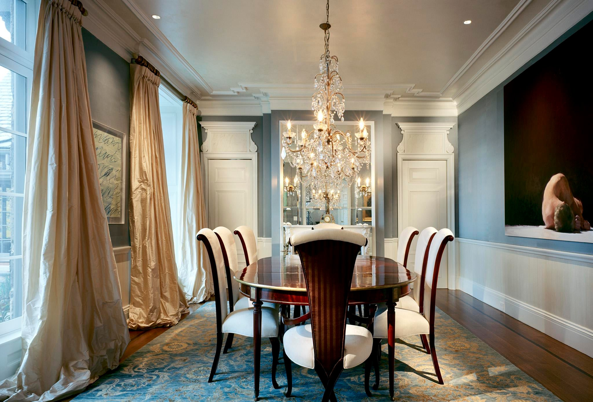 Waterfront French Normandy Dining Room By Douglas