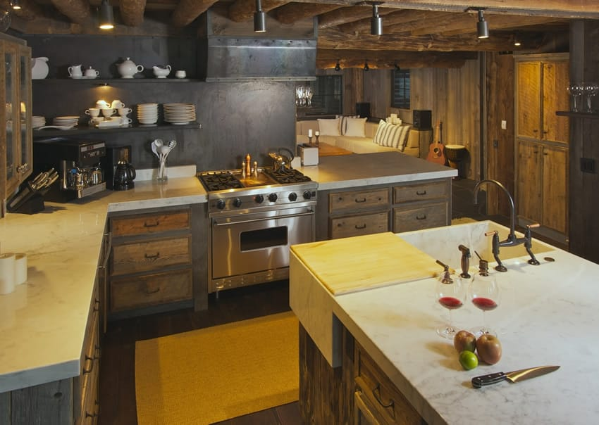 Rustic L Shaped Kitchens