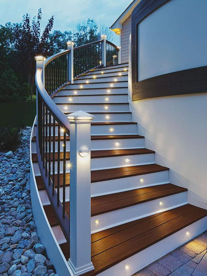 15 Attractive Step Lighting Ideas For Outdoor Spaces | Outside Stairs For House