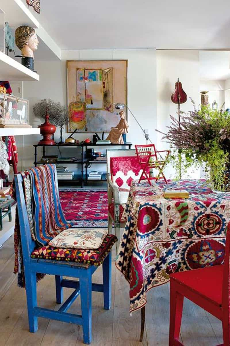 Comprehensive Bohemian Style Interiors Guide To Use In Your Home Choose decorative materials abiding by the bohemian philosophy