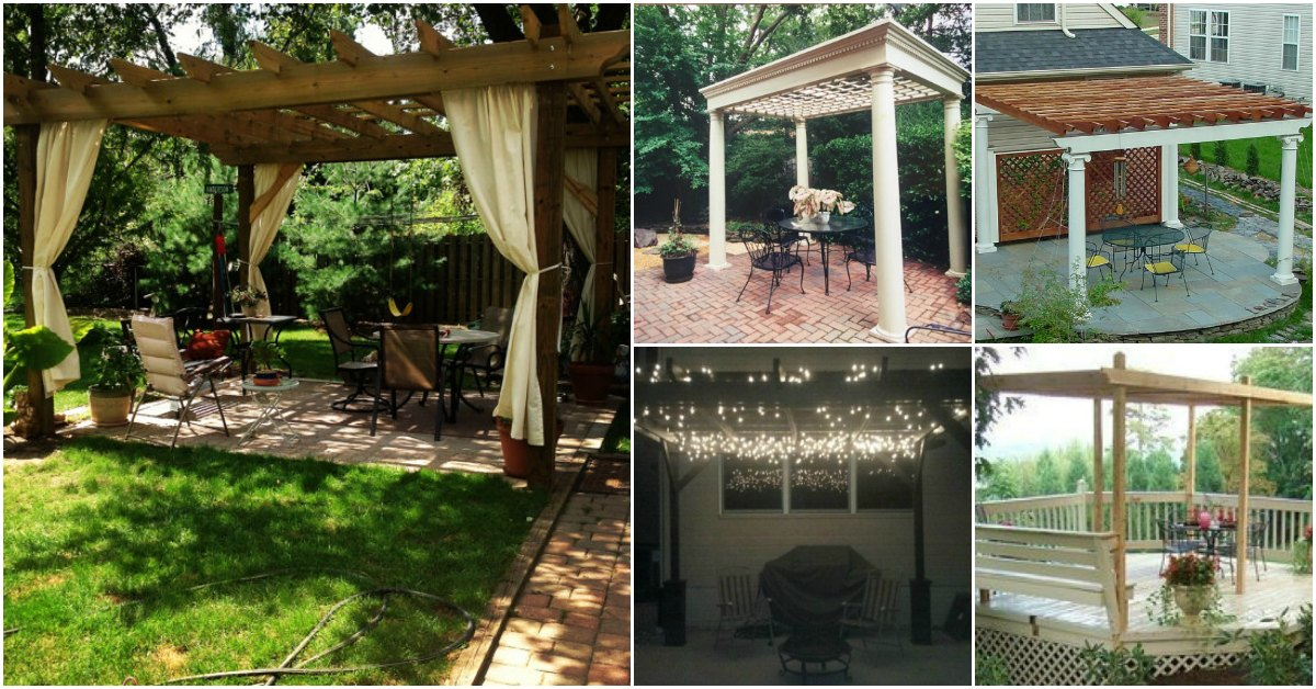 20 Diy Pergolas With Free Plans That You Can Make This