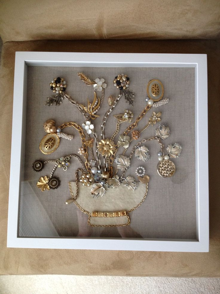 Cute and Creative Shadow Box Ideas Brooch mural shadow box