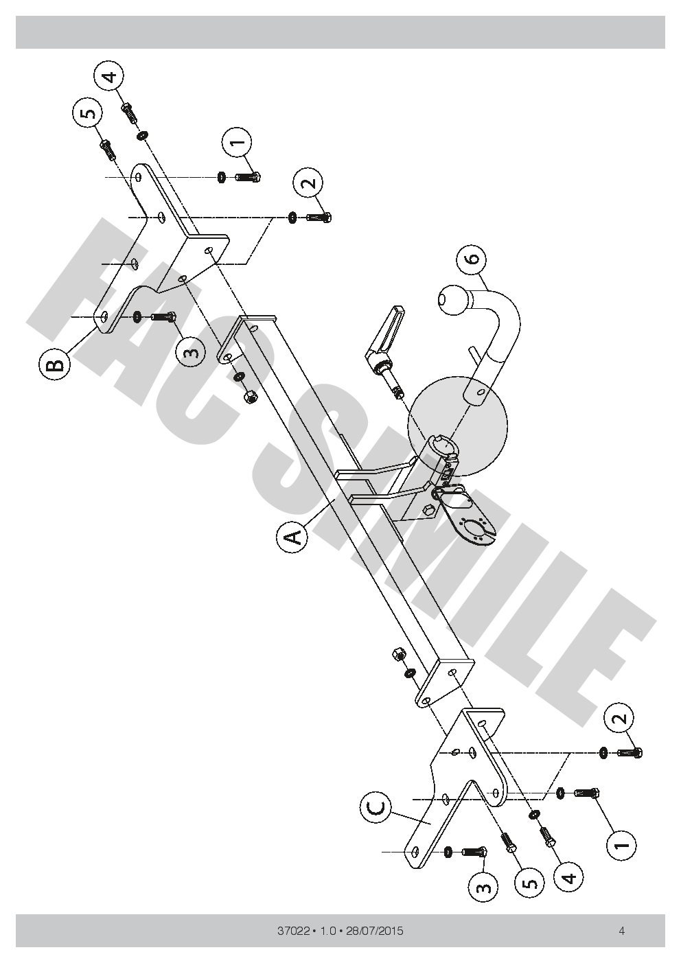 Detachable towbar 7 pin wiring kit bypass relay