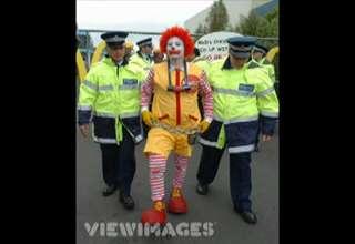 Ronald McDonald being arrested - Video | eBaum's World